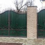 Ворота с калиткой для дачи из металла