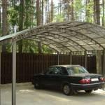Большой навет для нескольких авто из металла и поликарбоната