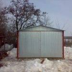 Фото стандартного гаража для машины