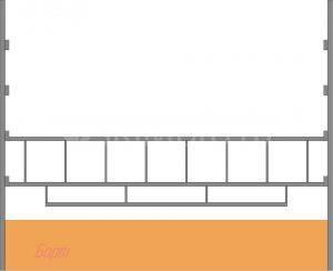 Нижняя двухрядная секция с бортом