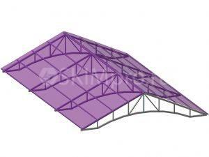 Закрытая треугольная ферма из поликарбоната