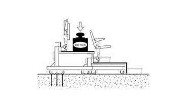 Колесные опоры трибуны для покрытий с несущей способностью более 10 кг/см2