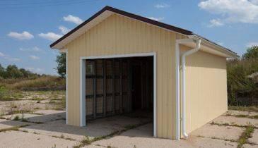 Вид гаража