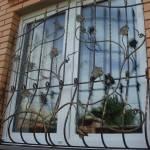 Образц металлической решетки на окна