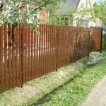 Забор штакетник из профнастила фото