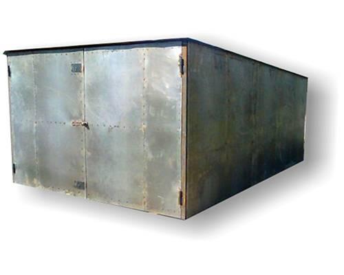 Сварной металлический гараж с односкатной крышей