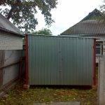 Фото стандартного гаража с односкатной крышей