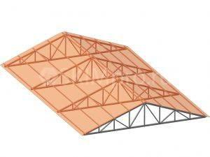 Плоская треугольная ферма из поликарбоната
