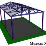 Навес с двускатной крышей