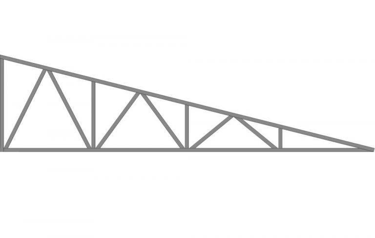 ферма треугольная металлическая односкатная