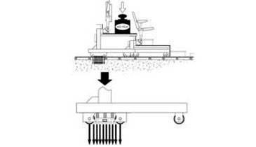 Колесные опоры трибуны для покрытий с несущей способностью менее 10 кг/см2