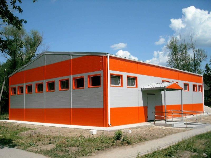 Здание из сэндвич панелей